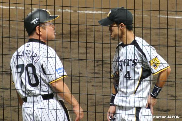 高代コーチと上本
