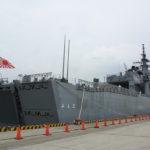 防災まつりin尼崎で掃海母艦「ぶんご」に乗船、掃海艇「みやじま」も