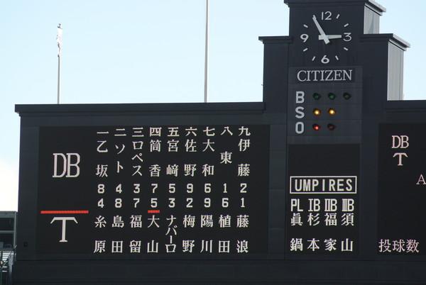 2018/10/6DeNA戦:藤浪がしっかり試合をつくればルーキーの島田がサヨナラ打