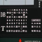 2019/4/11DeNA戦:近本と大山のホームランで反撃もむなしく敗戦