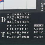 2019/7/31中日戦:2番ソラーテも不発、僅差に泣く