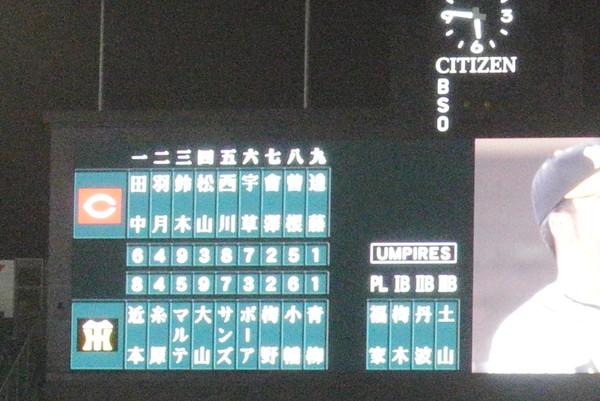 2020/10/21広島戦:1軍復帰したマルテがいきなりツーランを打って完封勝利