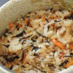 No. 021 ひじきと高野豆腐の炊き込みご飯:ひじきと高野豆腐がいい味出してますね